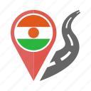 country, flag, location, nation, navigation, niger, pin