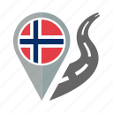 country, flag, location, nation, navigation, norway, pin icon