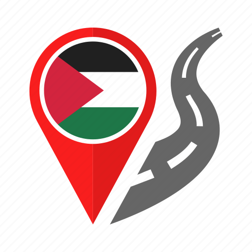 country, flag, location, nation, navigation, palestine, pin icon