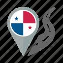 country, flag, location, nation, navigation, panama, pin icon