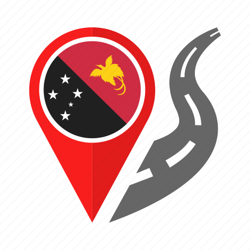 country, flag, location, nation, navigation, papua new guinea, pin icon