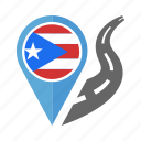 country, flag, location, nation, navigation, pin, puerto rico icon