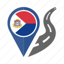 country, flag, location, nation, navigation, pin, sint maarten icon