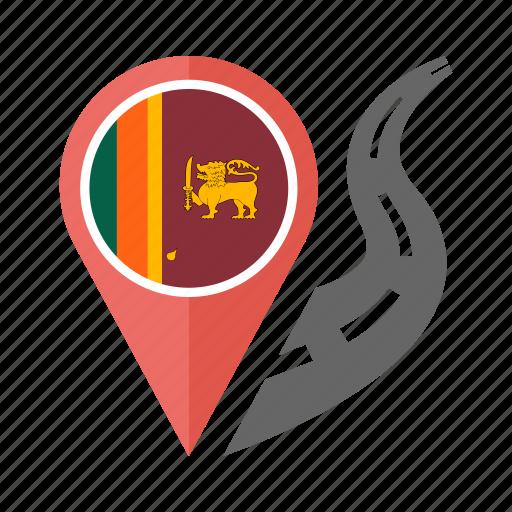 country, flag, location, nation, navigation, pin, sri lanka icon