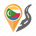 country, flag, location, nation, navigation, pin, the comoros icon