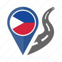 country, flag, location, nation, navigation, pin, the philippinesa icon