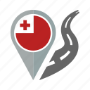 country, flag, location, nation, navigation, pin, tonga icon