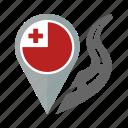 country, flag, location, nation, navigation, pin, tonga icon