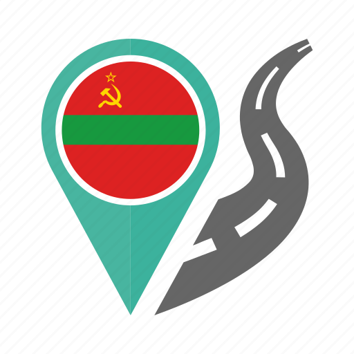country, flag, location, nation, navigation, pin, transnistria icon