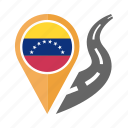 country, flag, location, nation, navigation, pin, venezuela icon
