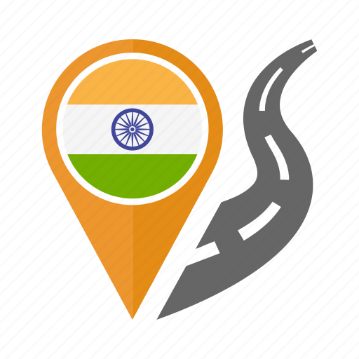 country, flag, india, location, nation, navigation, pin icon