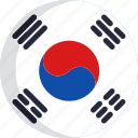 country, nation, flag, south korea, national, flags icon