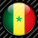 africa, senegal icon