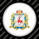 asia, nizhny, russia icon