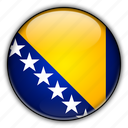 and, bosnia, europe, herzegovina icon