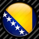 and, bosnia, europe, herzegovina icon