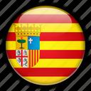 aragon, europe, spain icon