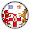 europe, ireland, kingdom, northern, united icon