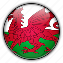 europe, kingdom, united, wales icon