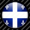 america, canada, north, quebec icon