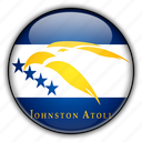 america, atoll, johnston, north, remote, us icon