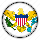 america, islands, north, remote, us, virgin icon