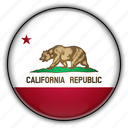 america, california, north, states, united icon