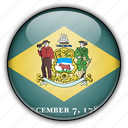 america, delaware, north, states, united icon