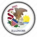 america, illinois, north, states, united icon
