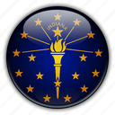 america, indiana, north, states, united icon