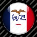 america, iowa, north, states, united icon
