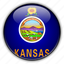 america, kansas, north, states, united icon