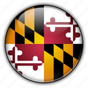 america, maryland, north, states, united icon