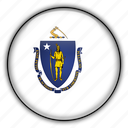 america, massachusetts, north, states, united icon