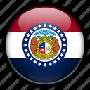 america, missouri, north, states, united icon