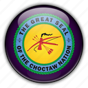 america, choctaw, native, north, states, united icon