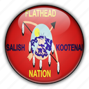 america, flathead, native, north, states, united icon