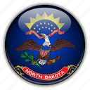 america, dakota, north, states, united icon