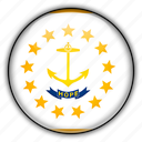 america, island, north, rhode, states, united icon