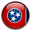 america, north, states, tennessee, united icon