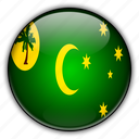 australia, cocos, islands, keeling, oceania icon
