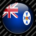 australia, oceania, queensland icon