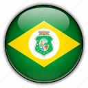 america, brazil, cear, south icon