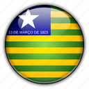 america, brazil, piau, south icon