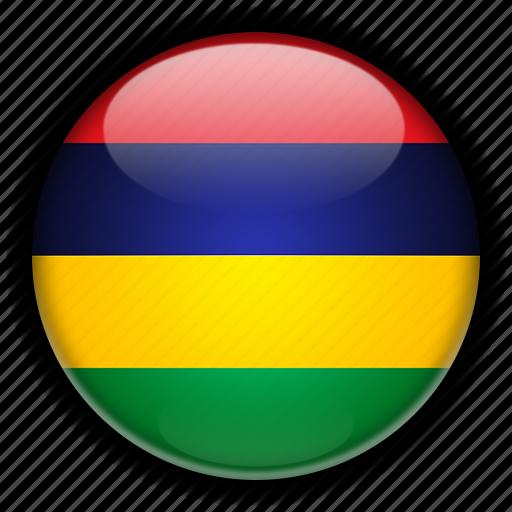 africa, mauritius icon