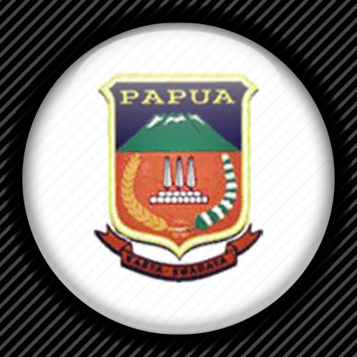 asia, coa, indonesia, papua icon