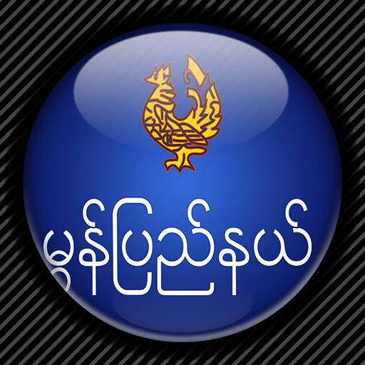 asia, mon, myanmar icon