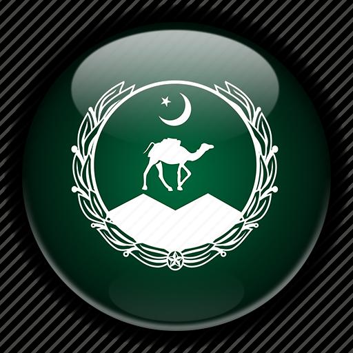 asia, balochistan, pakistan icon