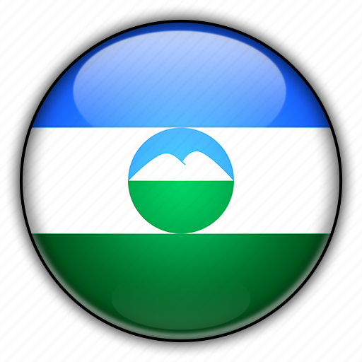 asia, balkaria, kabardino, russia icon