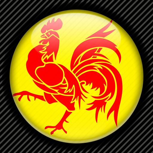 belgium, europe, wallonia icon